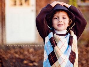 boy wearing bonnet
