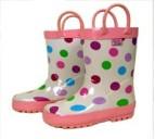 boots polka dots