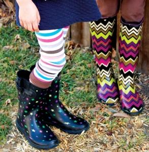 fashion colored boots