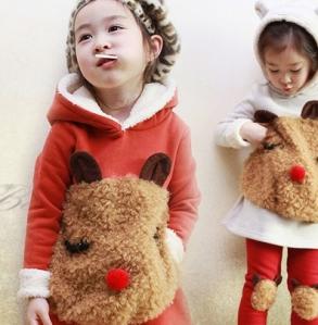 Girls with animal hoodies