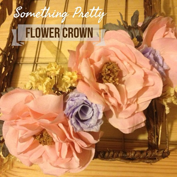 Something Pretty Flower Crown DIY