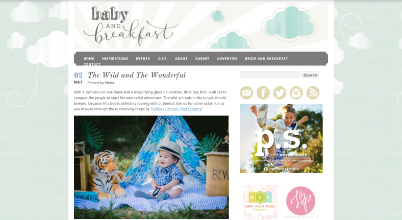 Feature | Baby and Breakfast | Safari | Something Pretty Manila