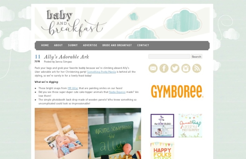 Something Pretty Manila Featured Work | Baby and Breakfast