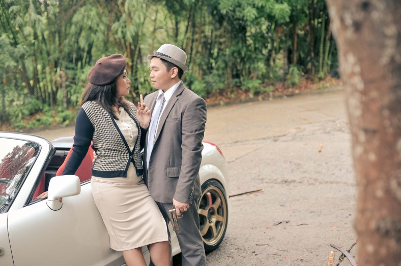 Something Pretty Manila   Prenup Styling Bonnie and Clyde
