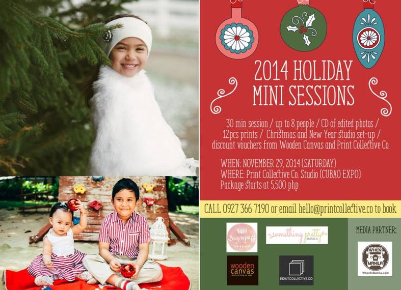 2014 Holiday Mini Sessions | Something Pretty Manila, Sugarpuff Photography, Print Collective Co, Wooden Canvas