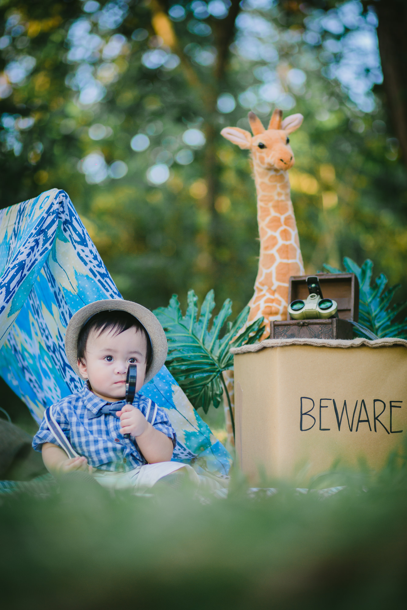 Briel baby safari styling by something pretty manila