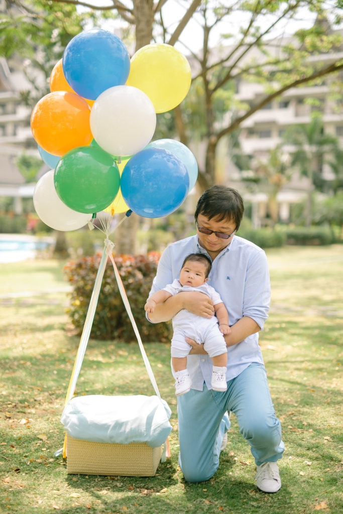 Kyle Li - Pre-Christening Pictorial | Styling by Something Pretty Manila | Travel Hot Air Balloon Theme